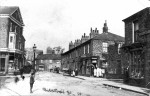 Bishopthorpe Road shops before WW1. The corner of Darnborough St is now the antique shop. Lund's Drug store is now Cycle Heaven.