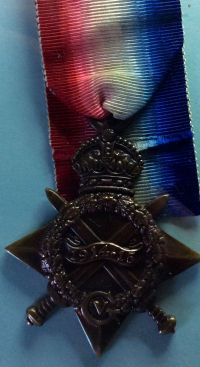 Albert's bronze star, received by his family after his death