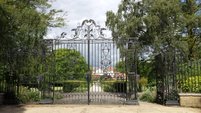 WW2 commemoration gates at Rowntree Park